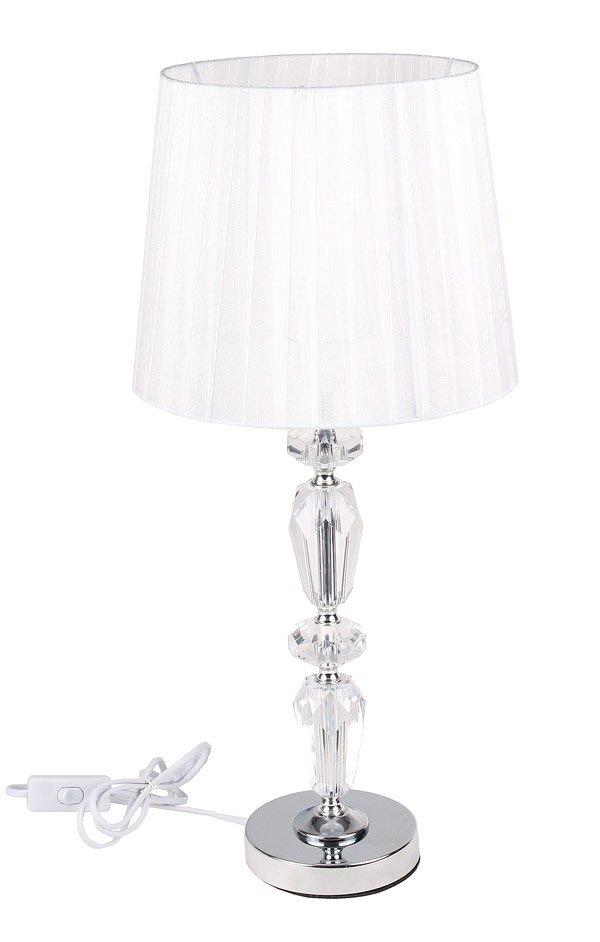 Biała Kryształowa Lampa Lampka Glamour Salonu Nocn 6568057925