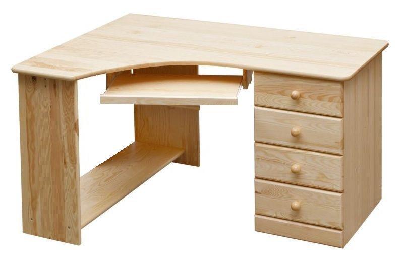 Biurko Narożne 140100 Sosnowe Drewniane Solidne 6748228627 Allegropl