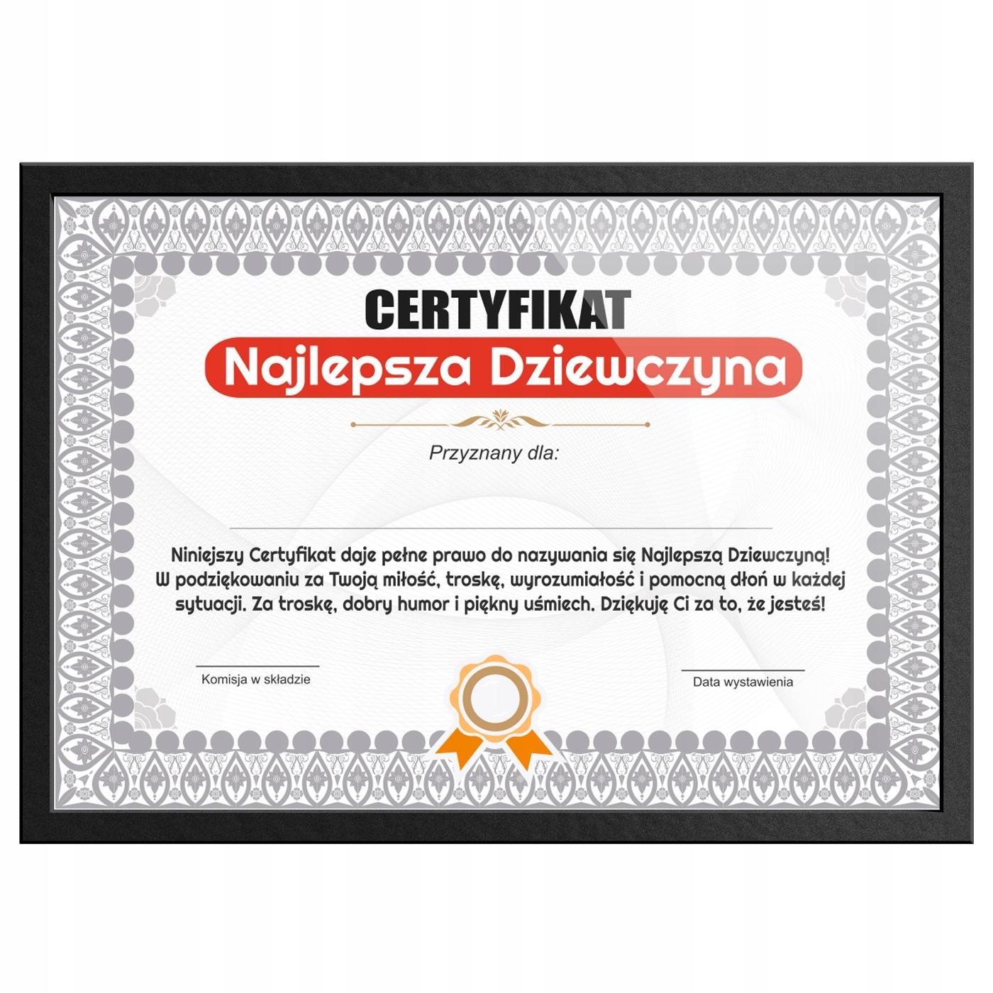 Wyjątkowy Prezent Dla Dziewczyny Certyfikat 24h