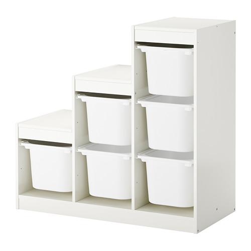 Ikea Trofast Regał 6 Pojemników Na Zabawki Biały