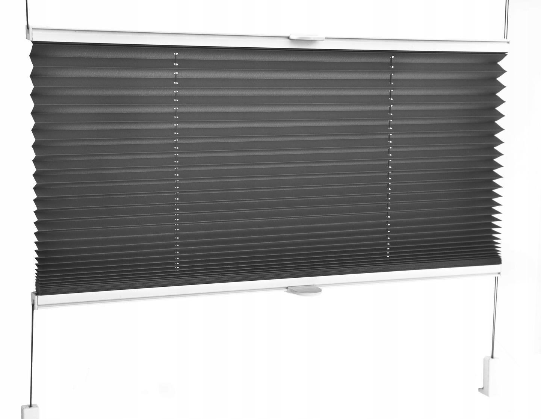 Modernistyczne Plisa okienna roleta plisowana ŁATWY MONTAŻ 7519489445 - Allegro.pl CG54