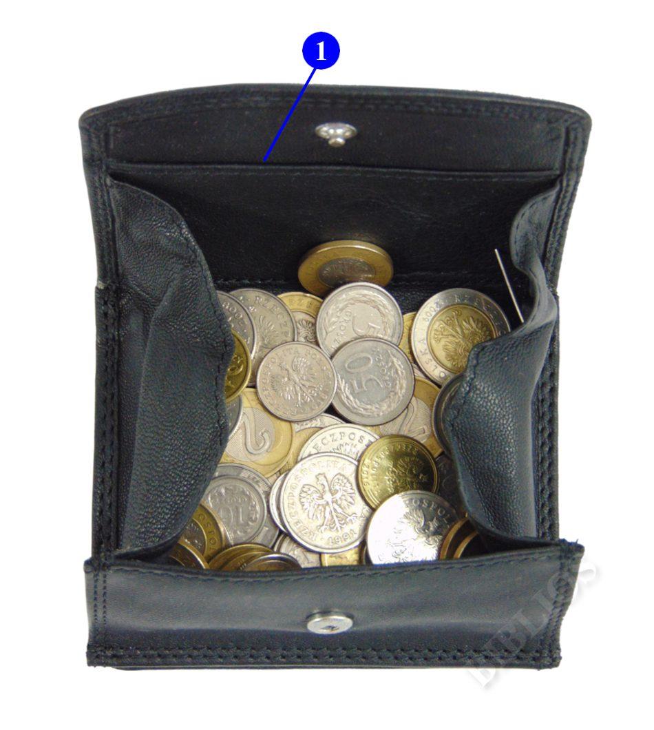 4df3793aca2ec Portfel męski skórzany Piekiełko koperta na monety 7011191213 ...