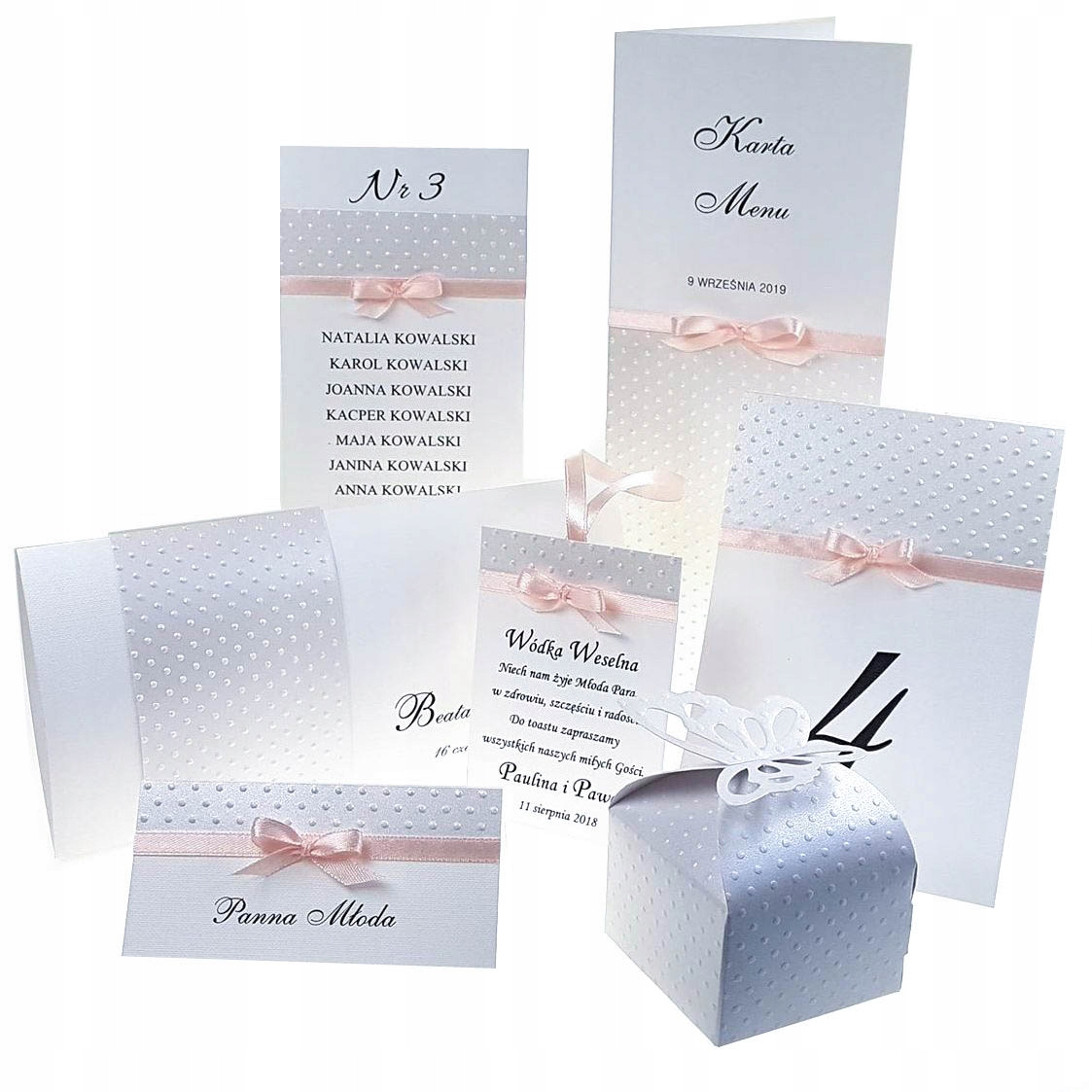Tłoczone Zaproszenia ślubne W Opasce Hit Zp001 7585854487 Allegro