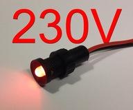 Kontrolka LED czerwona 230V AC