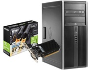 Komputer PC gier HP 4GB DDR3 250GB SSD GeForce 2GB