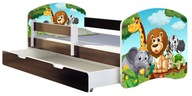 Łóżko dziecięce 140x70 szuflada materac WENGE ACMA
