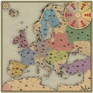Rolowana mapa z planszą do gry MOCARSTWA