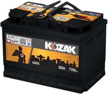 акумулятор kozak ko800 80ah/780a [sae] 80ah - фото