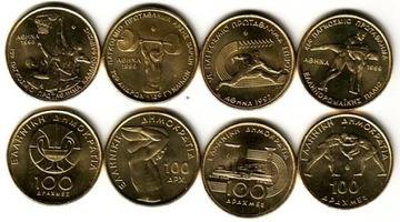 ГРЕЦИЯ набор из 4 монет 100 драхм доставка товаров из Польши и Allegro на русском