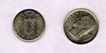 Belgique 1 Francs 1978 r. доставка товаров из Польши и Allegro на русском