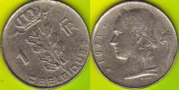 Belgique 1 Francs 1971 r. доставка товаров из Польши и Allegro на русском