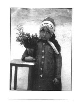 Pocztówka - Żydowska dziewczynka z Jemenu i kwiaty доставка товаров из Польши и Allegro на русском