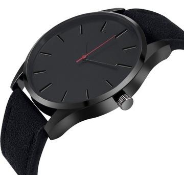 Часы мужские черный матовый элегантный классический доставка товаров из Польши и Allegro на русском