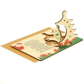 Открытка деловая логотип рождественская елка bauble доставка товаров из Польши и Allegro на русском