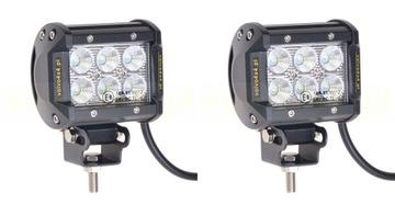 LAMPA ROBOCZE HALOGENY 18W LED CREE 36W ZESTAW 4x4