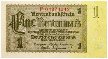 Германия - III Рейх - БАНКНОТА - 1 Марка 1937 доставка товаров из Польши и Allegro на русском