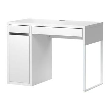 ИКЕА МИККЕ письменный стол с шкафчиком 105x75x50 - БЕЛЫЙ доставка товаров из Польши и Allegro на русском