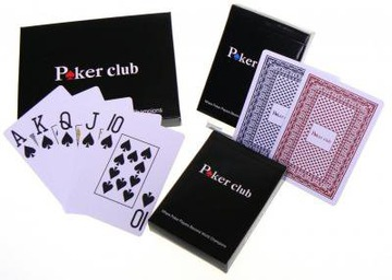 2 X ИГРАЛЬНЫЕ КАРТЫ 100% ПЛАСТИК, ДЖАМБО НАБОР ПОКЕР ! доставка товаров из Польши и Allegro на русском