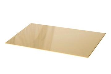 Mosadzný list mosadzný formát 200x100x1,0 mm