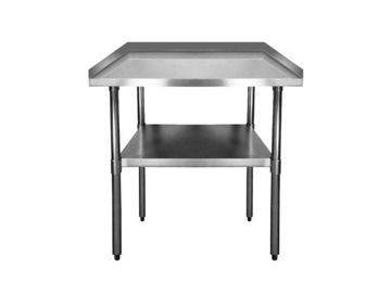Gastronomický pracovný stôl. Nerezová oceľ 600 mm