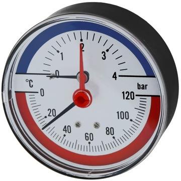 Thermogeometer Teplomer Manometer Voľný stopkový ventil