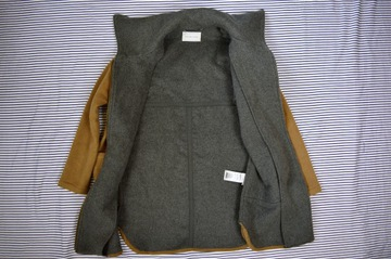 52 płaszcz M&S 44 46 48 teddy bear boucle różowy oversize