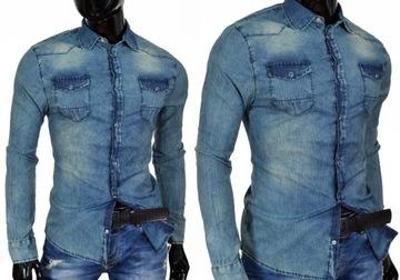 markowe koszule meskie jeansowe