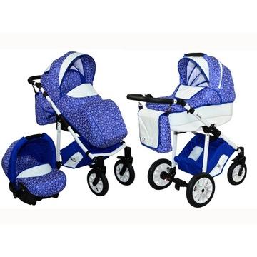 Wózek dziecięcy wielofunkcyjny 3w1 torba akcesoria