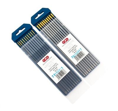volfrámové Elektródy drôt TIG 2.4 mm WLa15 Zlato
