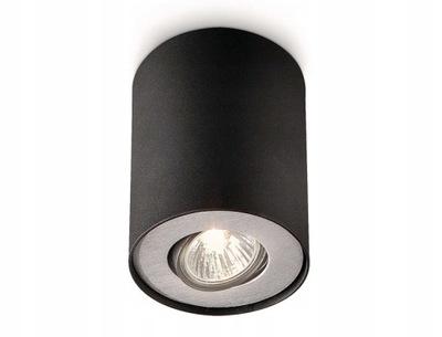 PHILIPS PILLAR NATYNKOWY CZARNY LAMPA SUFITOWA