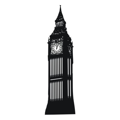 Naklejka na sciane BIG BEN zegar UK ! WestArt_pl