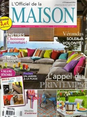L'OFFICIEL DE LA MAISON 3-4/2016 FRANCJA
