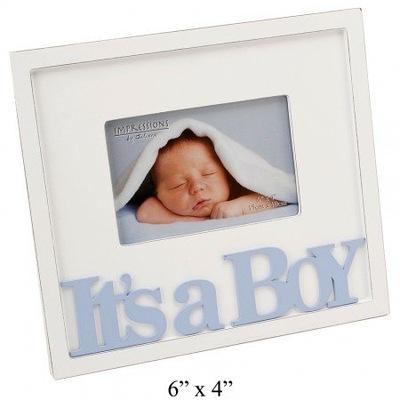 Na CHRZEST - ramka dla chłopca It's a boy CG149B