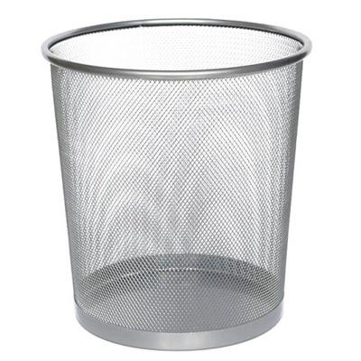 Корзина для мусора ,ОФИСНЫЙ,БОЛЬШОЙ, Черный ,серебро F .НДС