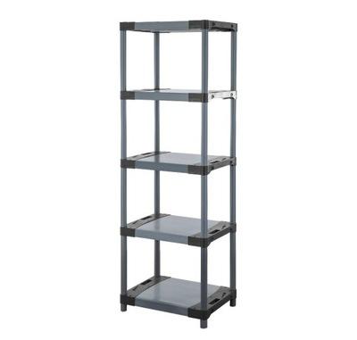 Regál - polica -  Skladovací stojan ako kovový Titanium-5 180x60x46