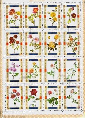 Аджман. цветы - 20 марок в arkusiku,  !
