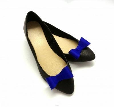 Klipsy do butów COQUET: Kokardki 3D - Kobalt