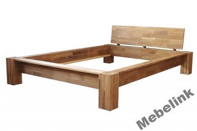 Łóżko dąb lity STOCKHOLM 180x200, naturalne drewno