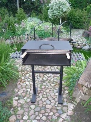 Solidny grill ogrodowy blacha 4 mm!! z pokrywą!!