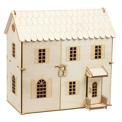 Deku drevený Domček pre bábiky s mebelkami