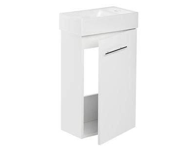 Шкаф С раковиной 40 x 22 slim белая
