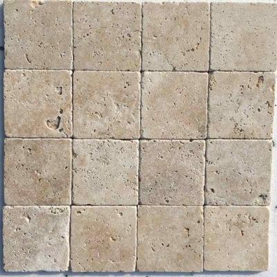 ТРАВЕРТИН IVORY, 10 см х 10 см Мрамор плитки антиквариат