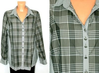 GERRY WEBER luksusowa bluzka w kratkę łączona 48