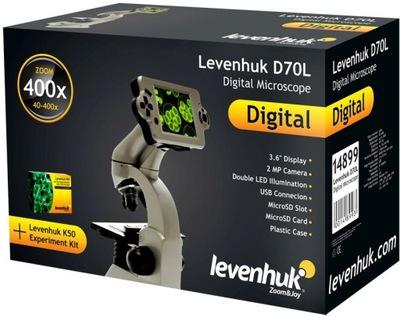 Biologiczny Mikroskop Cyfrowy Levenhuk D70L