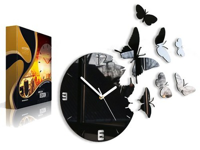часы instagram -бабочки - УДИВИТЕЛЬНЫЙ ЭФФЕКТ 7 БАБОЧКАМИ