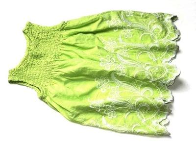 GEORGE limonkowa tunika białe hafty kwiaty ___ 74