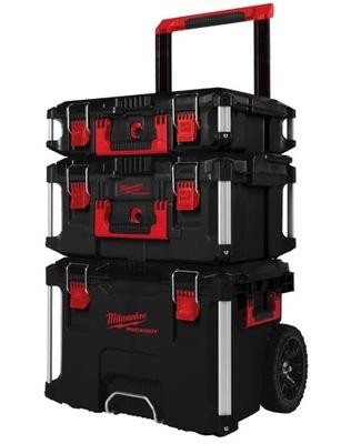 Nastaviť vozíka kufor box MILWAUKEE PACKOUT 123