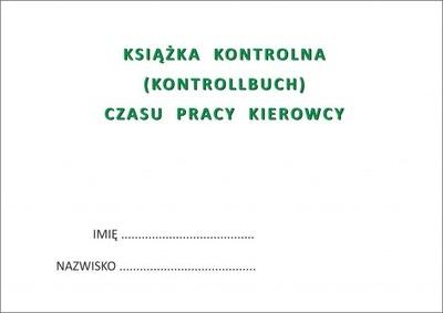 Książka czasu pracy kierowcy KONTROLLBUCH PL - DE
