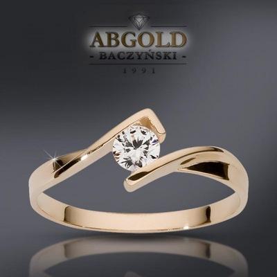 ABgold pierścionek zaręczynowy z brylantem 0,20ct!