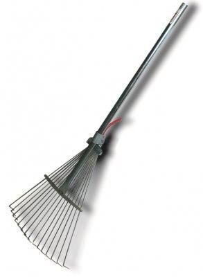 Hrable - Rake nastaviteľná kovová záhradná kovová stopka